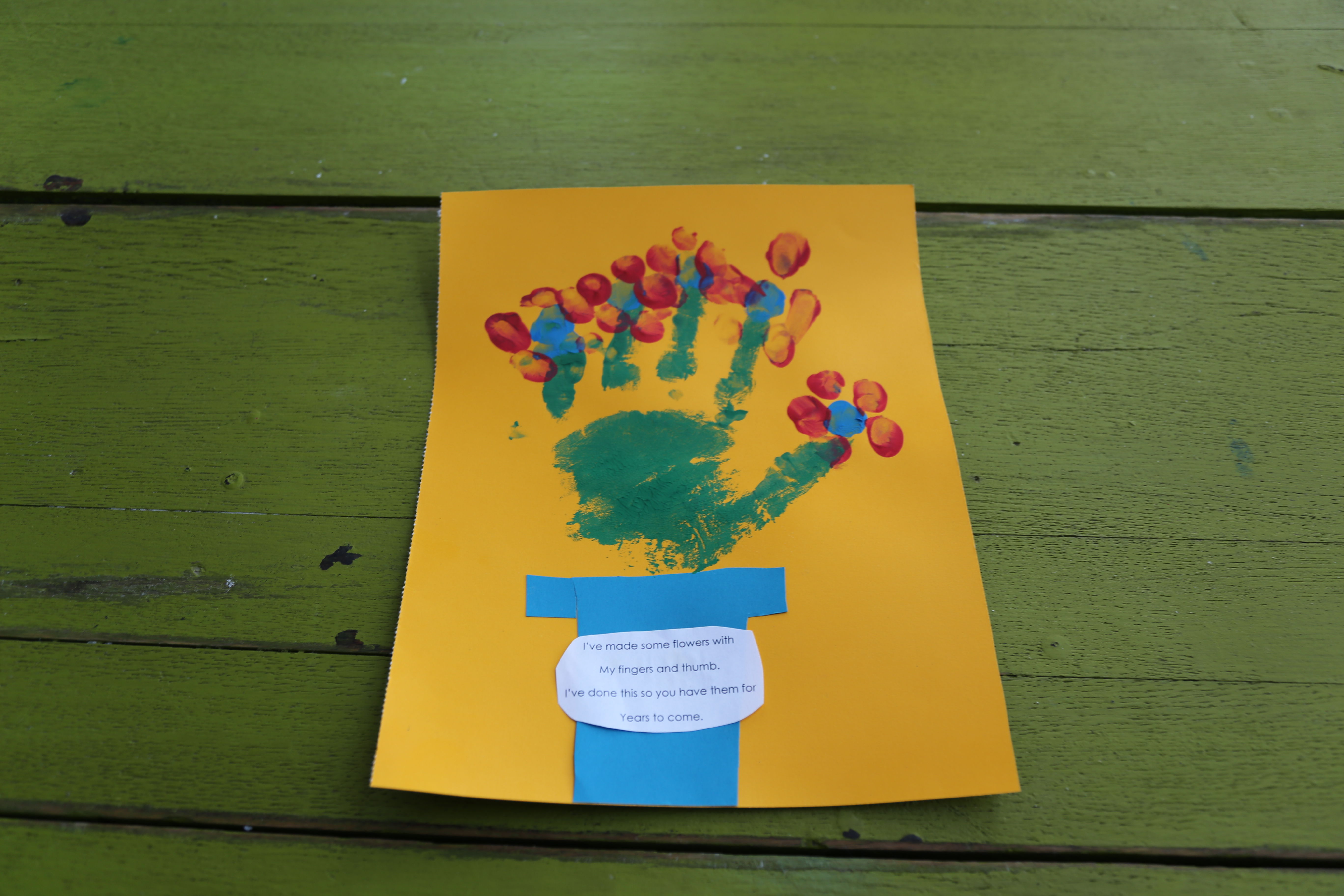 Handprint Flower Pots