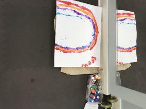 Finger paint rainbow